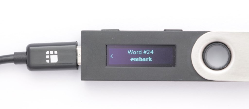Ledger Nano S Recovery phrase Word 24