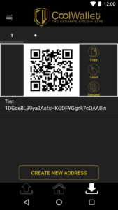 Receive CoolWallet Bitcoins