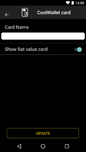 CoolWallet Card Settings