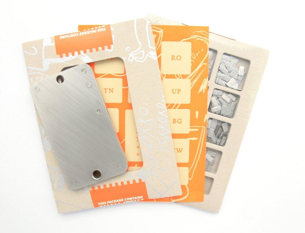 Cryptosteel cardboard sliced open