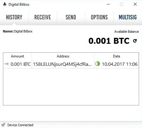 Digital Bitbox Bitcoins Get Completed