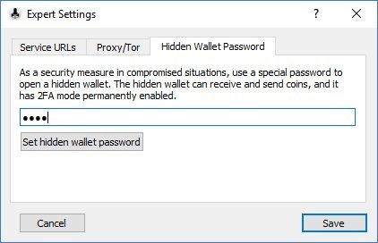 Digital Bitbox Hidden Wallet Password