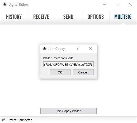 Digital Bitbox MultiSig Wallet Copay Share Bitbox