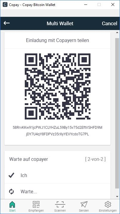 Digital Bitbox MultiSig Wallet Copay Share Copay