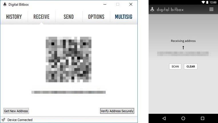 Digital Bitbox Smart Receive