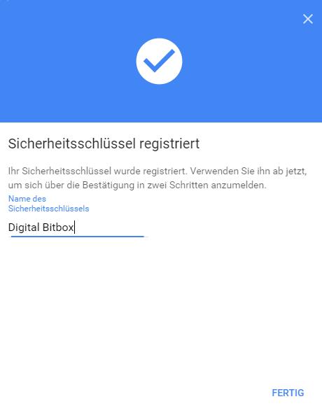 Digital Bitbox U2F google ready