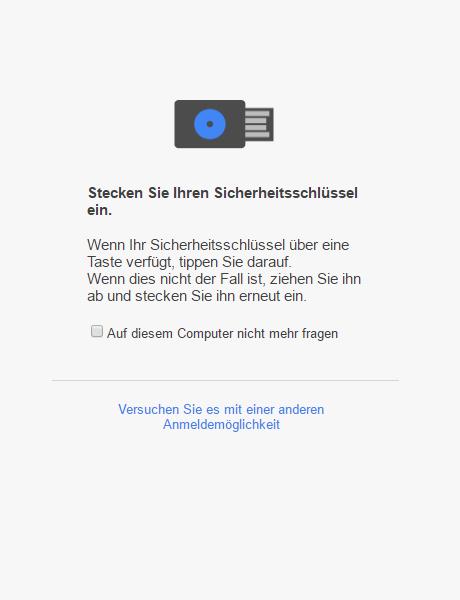 Digital Bitbox U2F google login