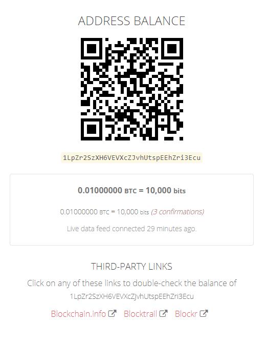 Opendime account balance