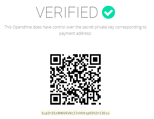 Opendime verification