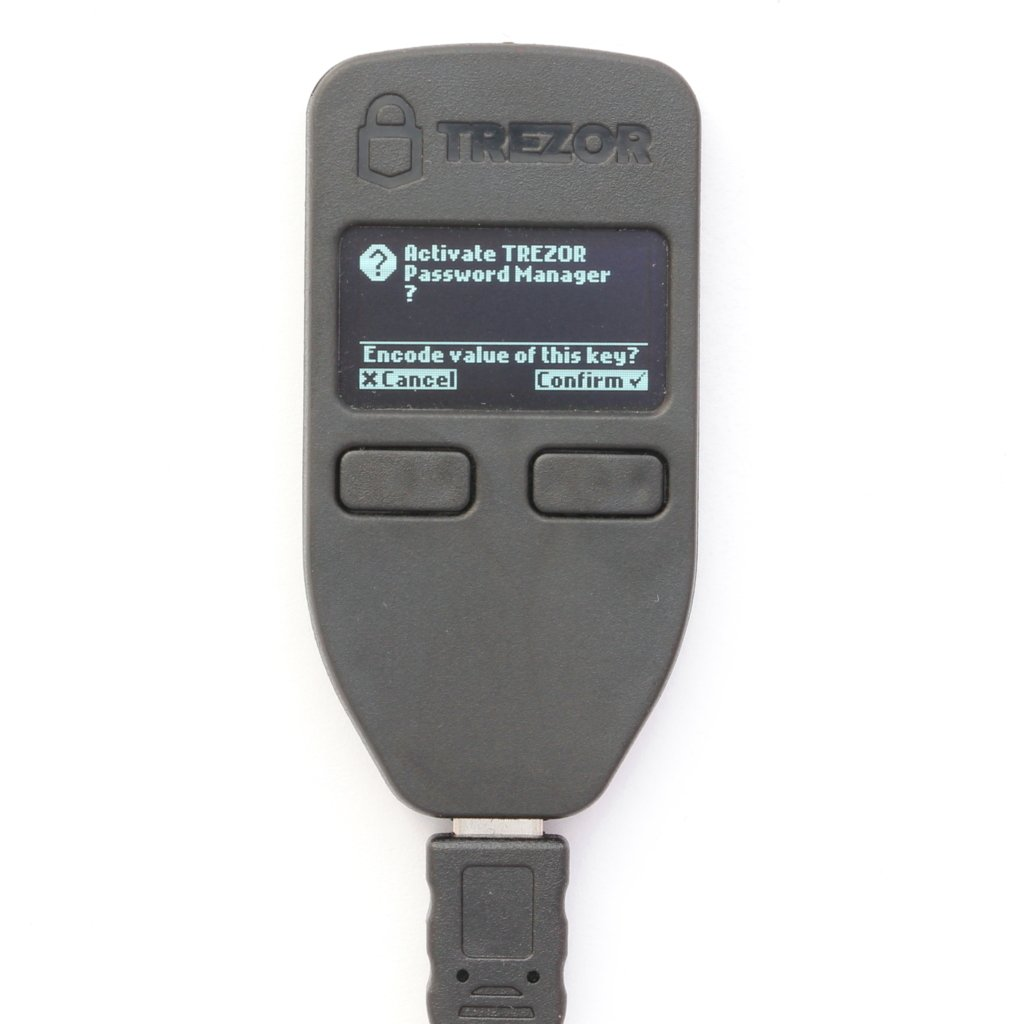 TREZOR Password Manager Confirm