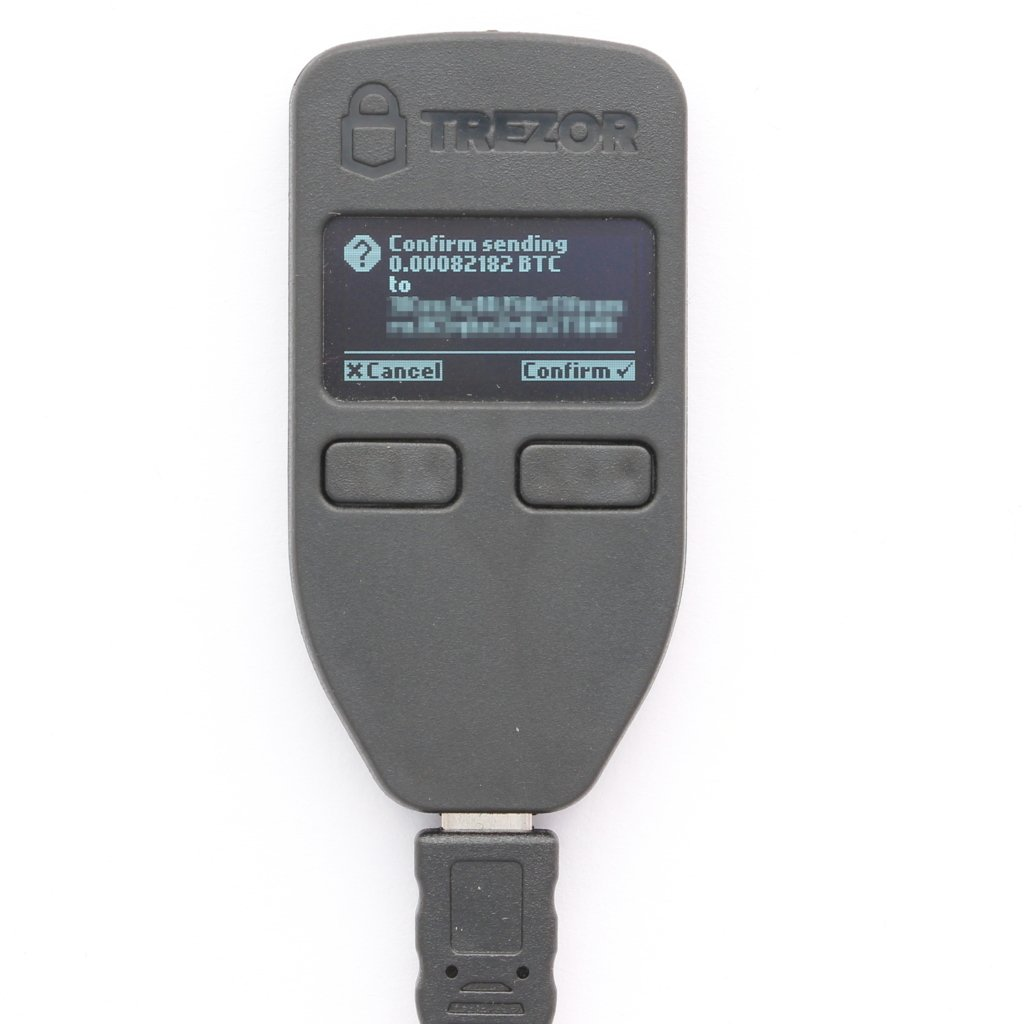 TREZOR Send Confirmation hardware wallet