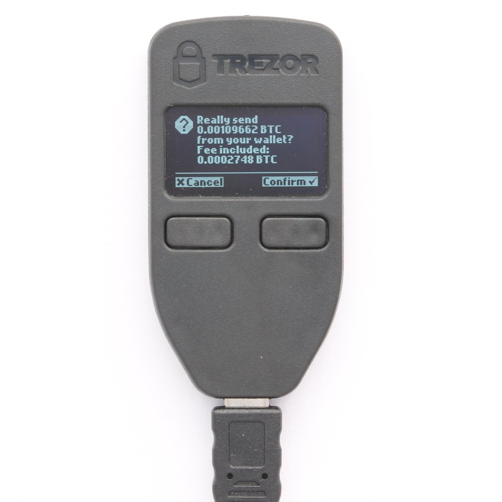 Confirm sending Trezor Send Two