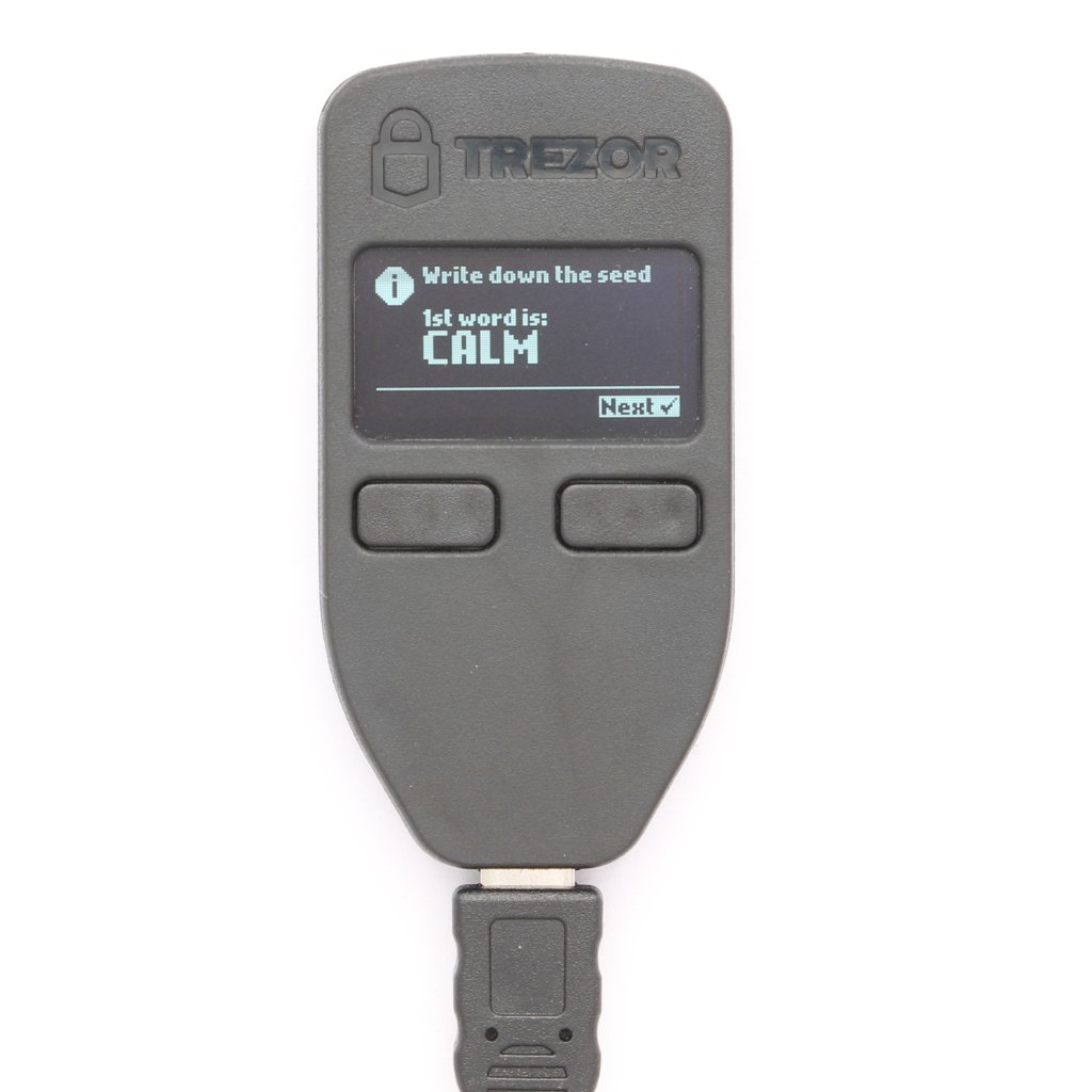 TREZOR Setup Recovery Seed First Word
