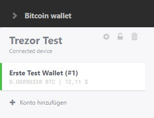 Trezor security locks and forgetting