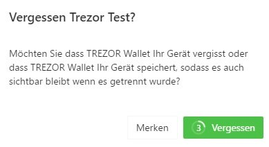 Trezor security forgotten