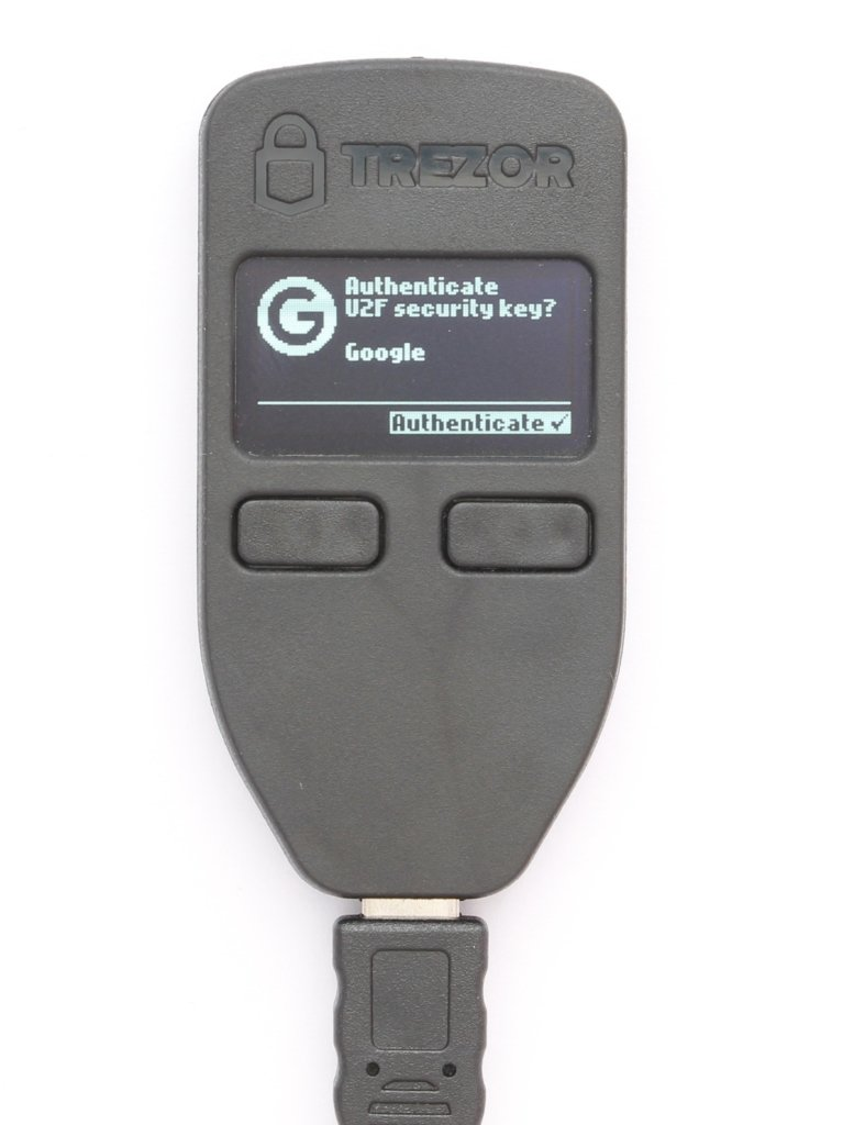 TREZOR Confirm U2F to register