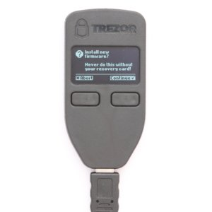 TREZOR Agree to agree to wallet firmware installation