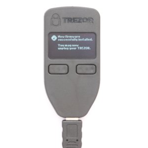 TREZOR Wallet firmware installed