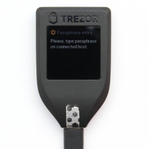 TREZOR T passphrase encryption type host
