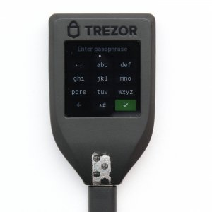 TREZOR T pass phrase encryption type TREZOR t