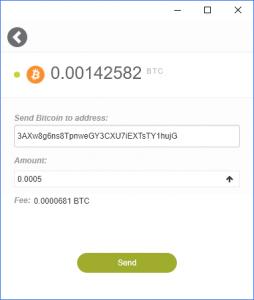 KeepKey Bitcoin Send