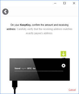 Confirm KeepKey Bitcoin Send