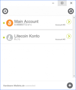 KeepKey Account Overview
