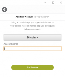 Add KeepKey Account