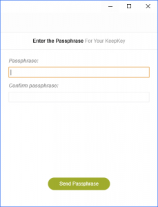 entering KeepKey Passphrase