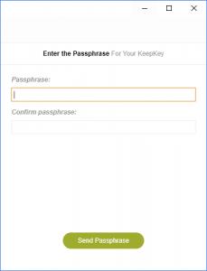 entering KeepKey Passphrase