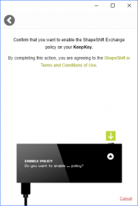 Allow KeepKey Shapeshift