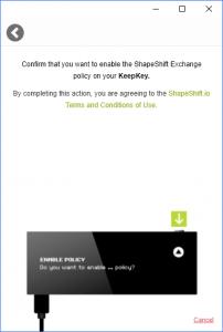 Allow KeepKey Shapeshift