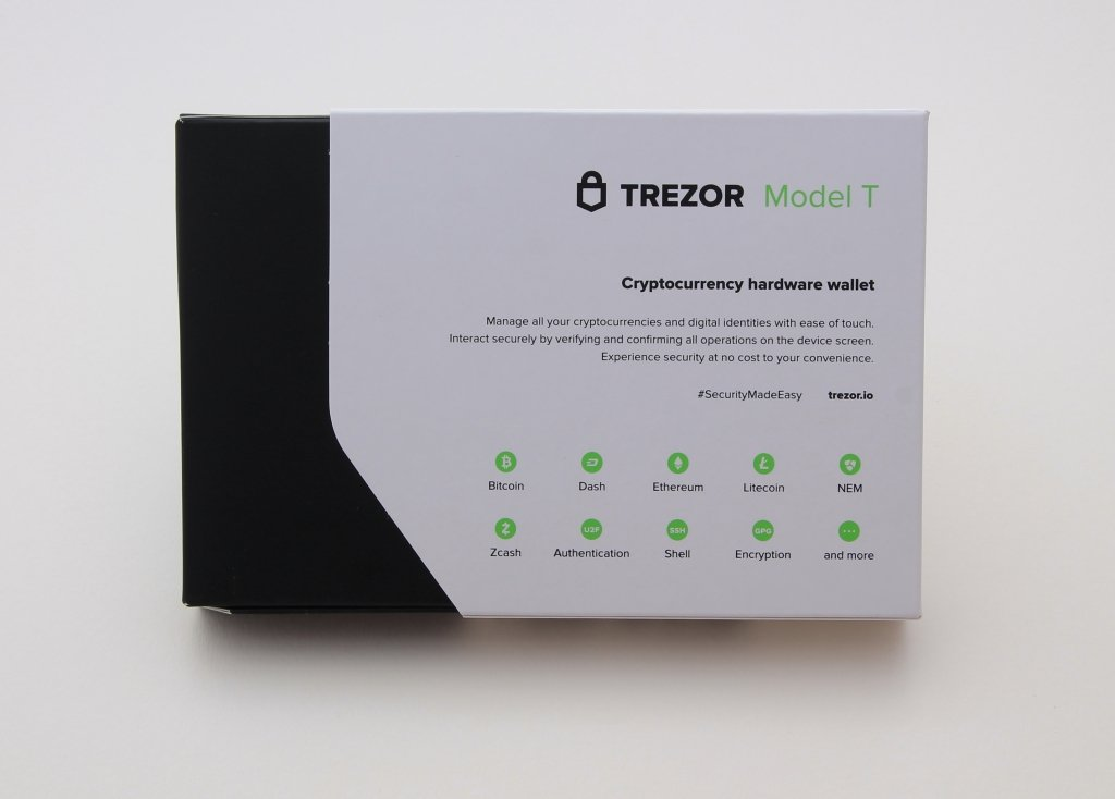TREZOR T Back of the package
