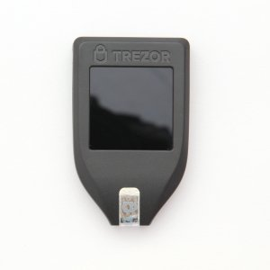 TREZOR Model T Front with touchscreen