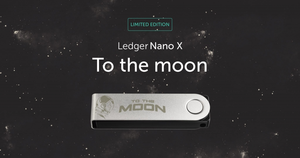 To The Moon Ledger Nano X Banner
